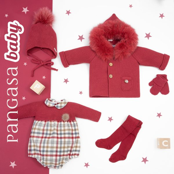 pangasa baby autumn collection baby clothes Maroon Flower Collection